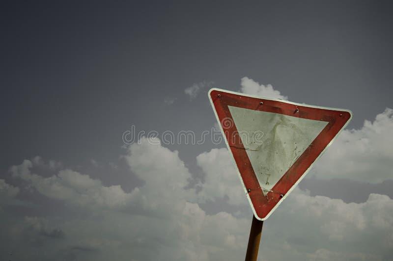 Om het recht van overpad waar te nemen stock afbeelding