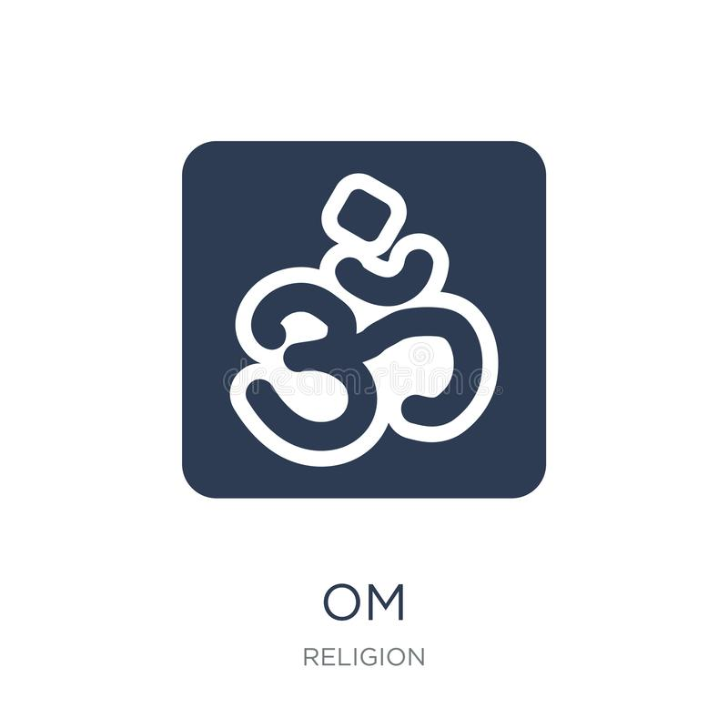 Om icon. Trendy flat vector Om icon on white background from Rel. Igion collection, vector illustration can be use for web and mobile, eps10 royalty free illustration