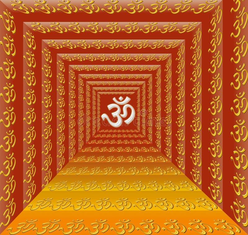 OM - ioga ilustração do vetor