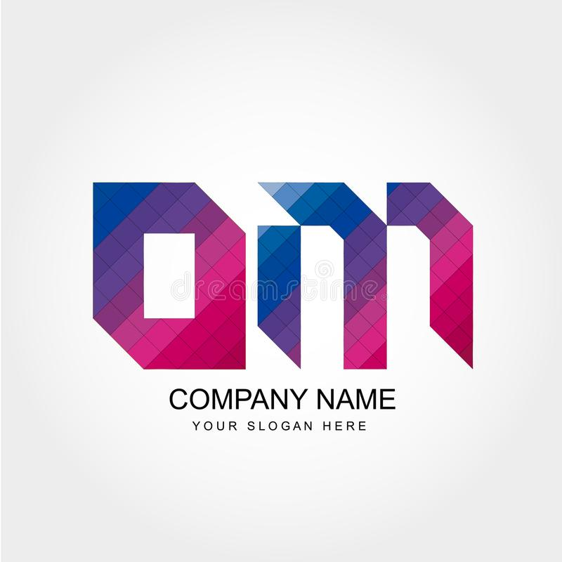 OM Letter Logo Design. OM Letters Logo Design for Company or Brand royalty free illustration