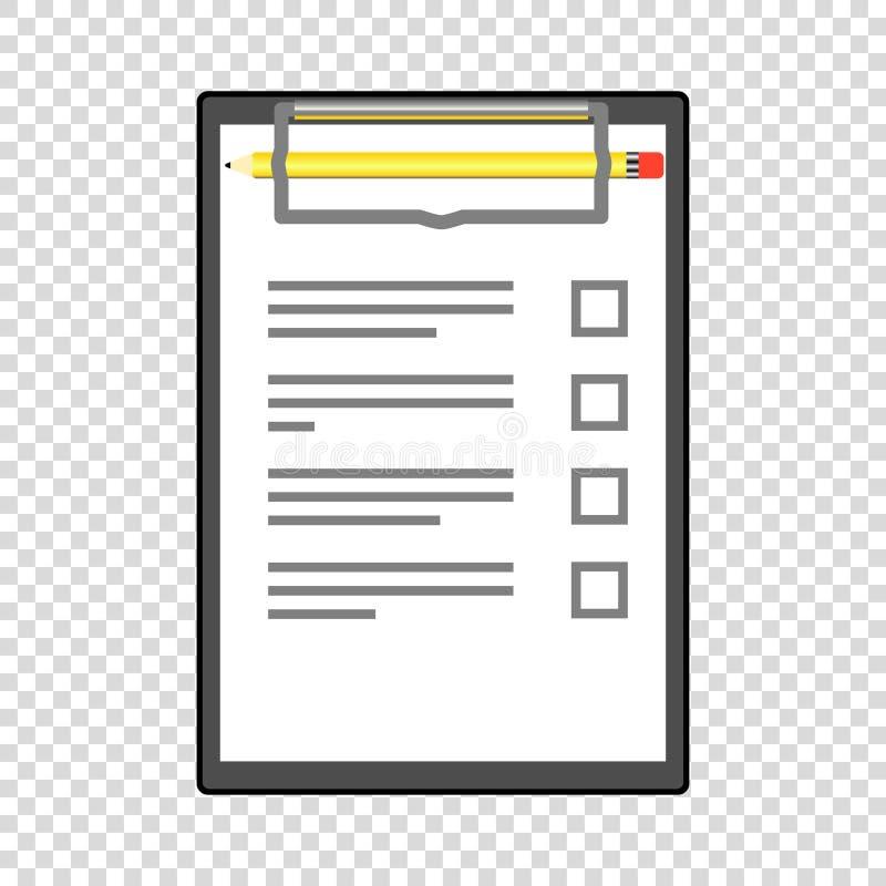 om lijst met leeg gevuld potlood te doen vector illustratie