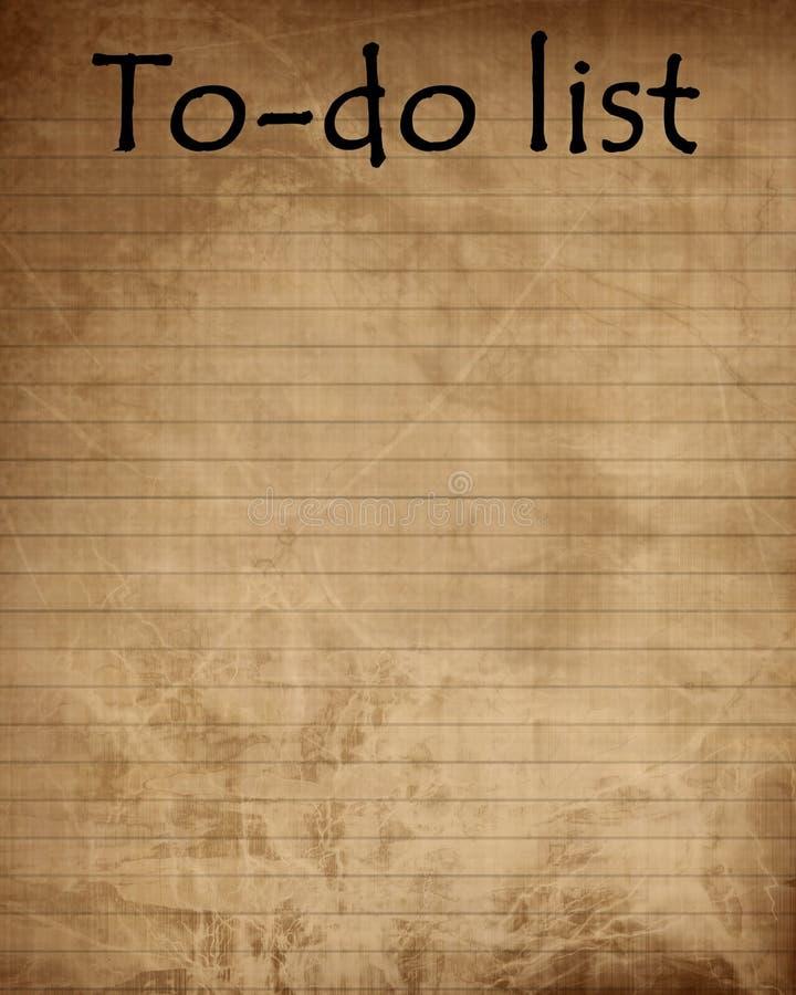 Om lijst te doen royalty-vrije illustratie