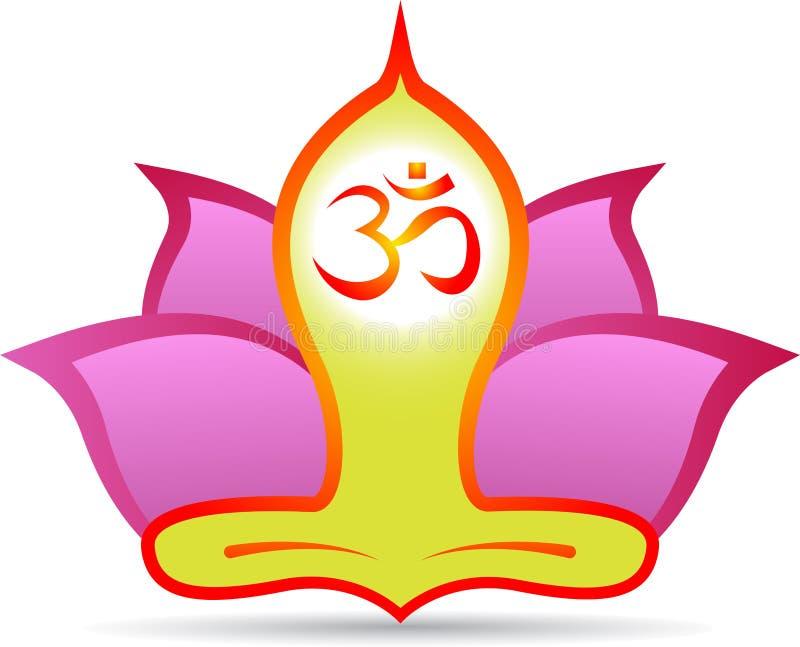 Om lotus meditation stock illustration