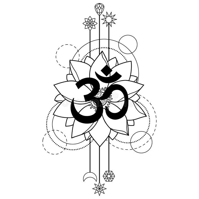 Om and lotus tattoo stock vector illustration of nature 94877293 download om and lotus tattoo stock vector illustration of nature 94877293 mightylinksfo