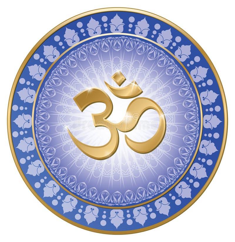 Om mandala joga ilustracji