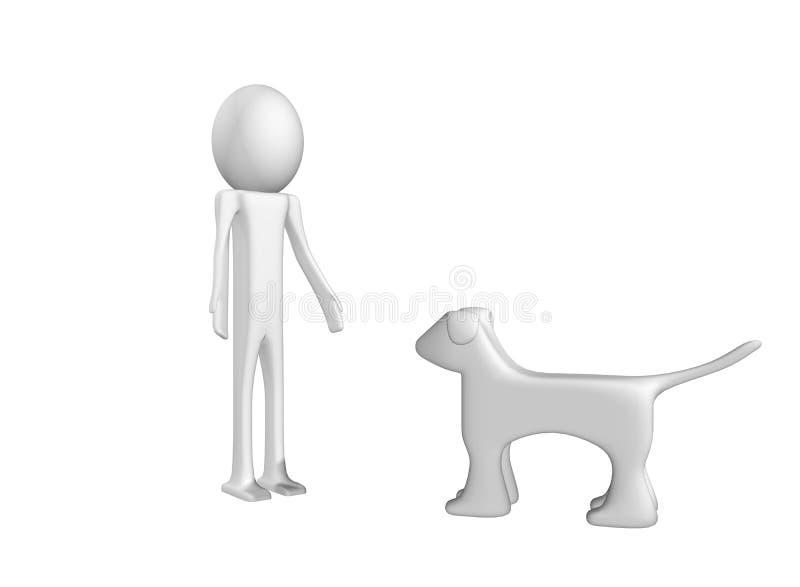 Om met hond te spelen
