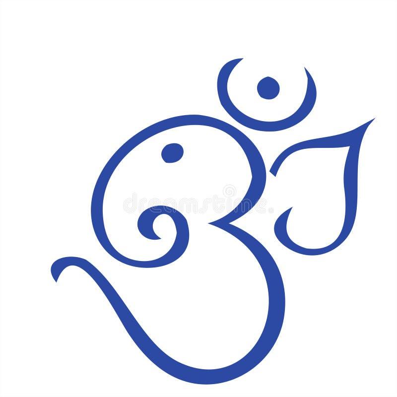 OM no azul ilustração do vetor