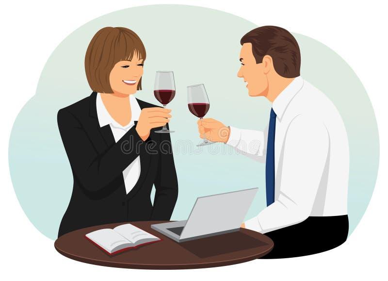 om odosobnione waite czerwonego wina ilustracja wektor