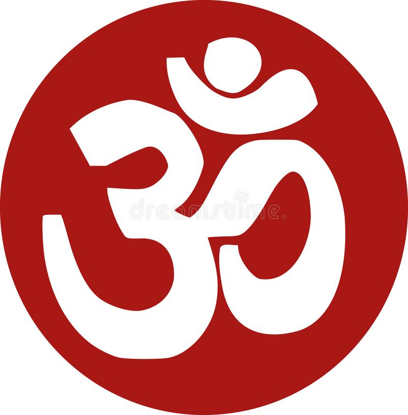 Om sanskrit icon. Religion vector stock illustration