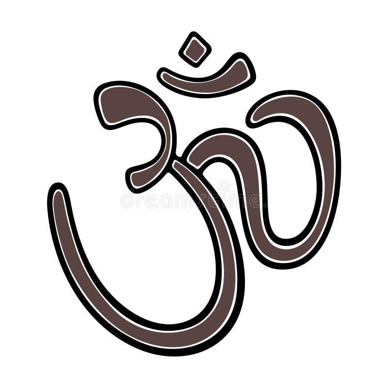 Om sanskrit symbol royalty ilustracja