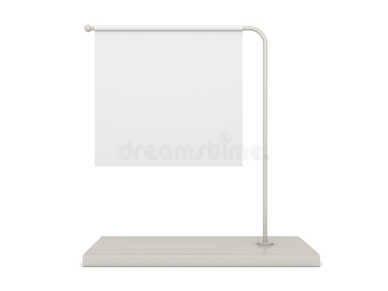 om skrivbordflagga för baner blank white för information stock illustrationer