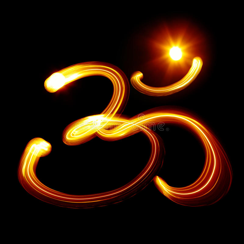 Om syllable stock photo