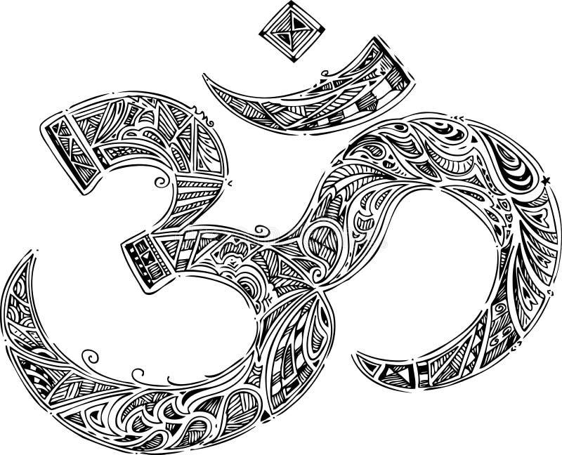 Om-symbol vektor illustrationer