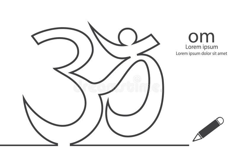 Om-symbol stock illustrationer