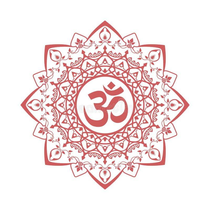 Om-symbol royaltyfri illustrationer