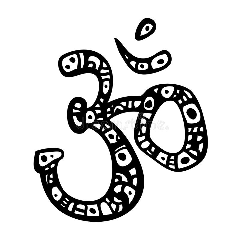Om symbol. Aum, ohm. Ohm. Om Aum Symbol. Vector hand drawn illustration vector illustration