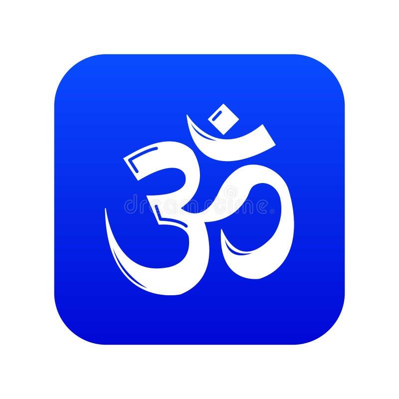 Om symbolu hinduism ikony błękita wektor ilustracja wektor