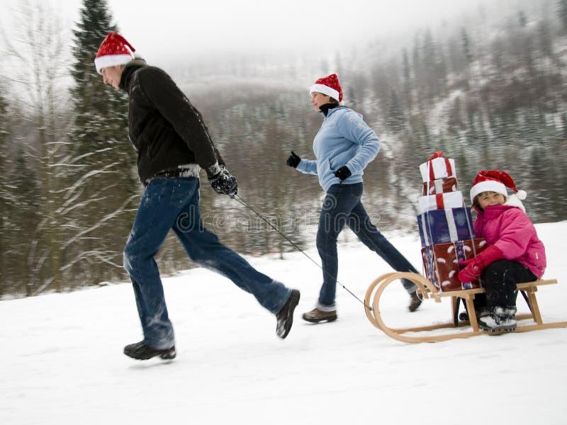 Om te zijn op tijd voor Kerstmis royalty-vrije stock fotografie