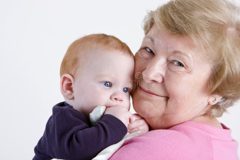 Oma met kleinzoon royalty-vrije stock fotografie