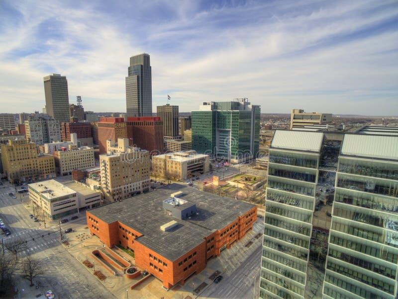Omaha är en Major Urban Center och en störst stad i staten av Nebraska royaltyfri bild