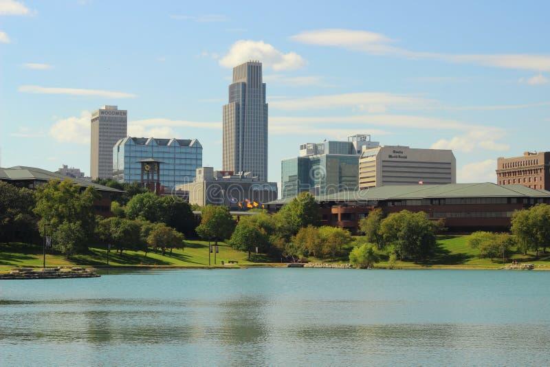 Omaha śródmieścia linia horyzontu zdjęcie royalty free