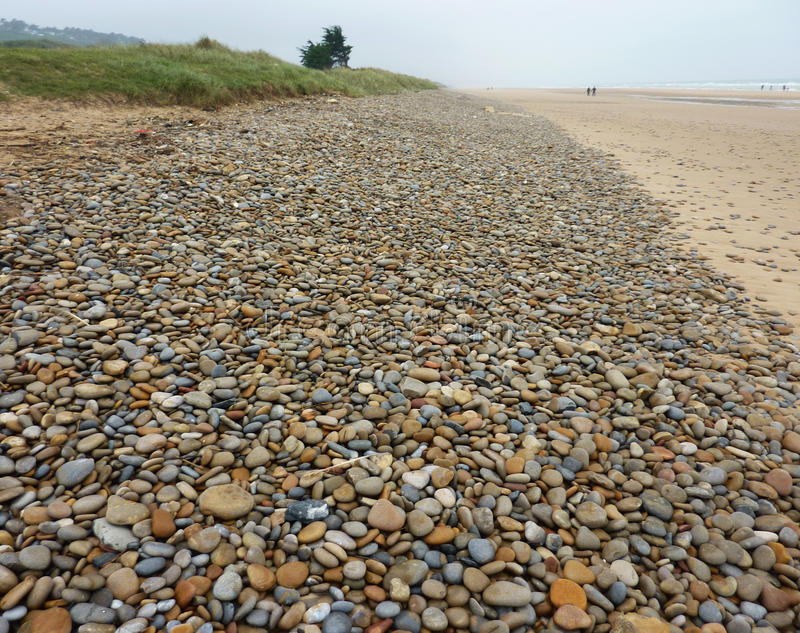 Omaha Beach. One of the D-Day landing beaches in Bayeux in the Normandy Region of France stock photography