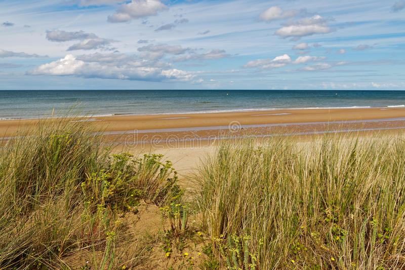 Omaha Beach. One of the D-Day beaches of Normandy, France stock photography