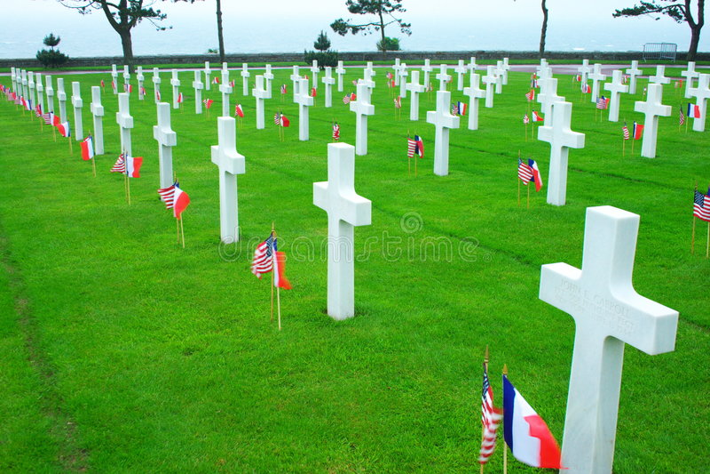 Omaha Beach Cemetery Stock Photo