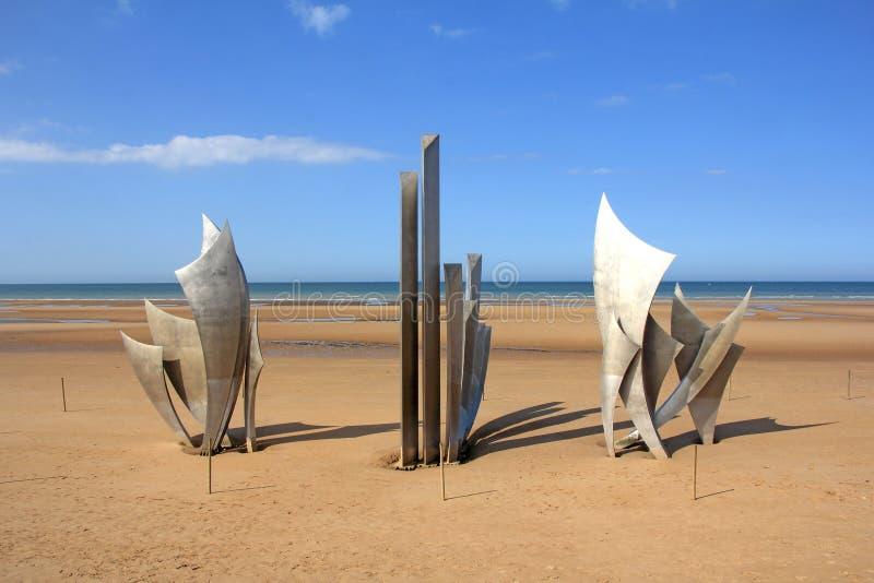 Omaha Beach commémoratif photo stock