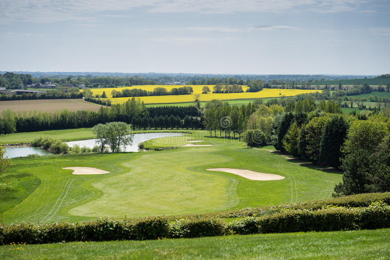 Omaha Beach Golf Club Normandy Frankrijk royalty-vrije stock foto