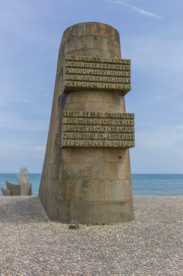 Omaha Beach Memorial royaltyfri foto