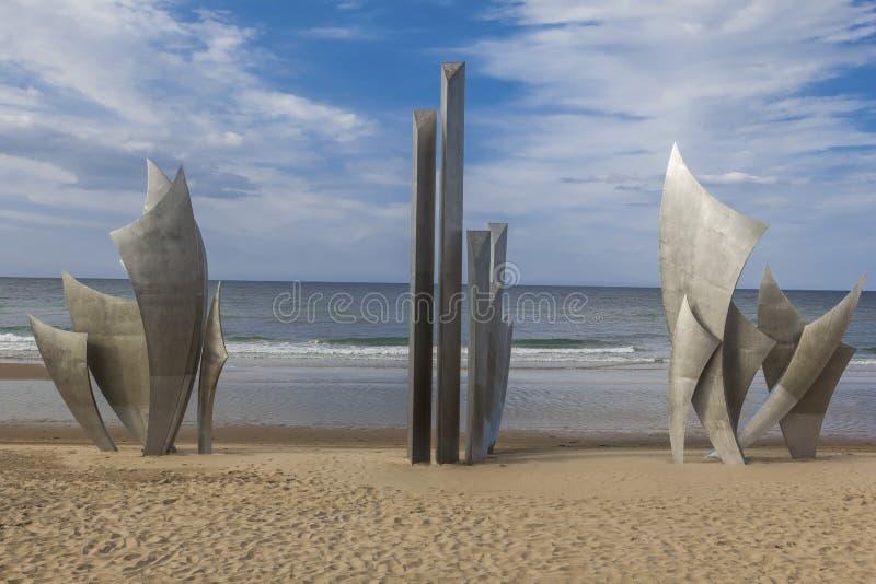Omaha Beach Memorial France royalty free stock photography