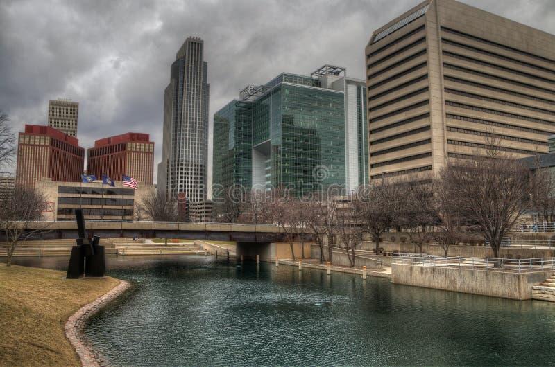 Omaha jest Ważnym centrum miejskim wielkim miastem w stanie Nebraska i zdjęcie royalty free