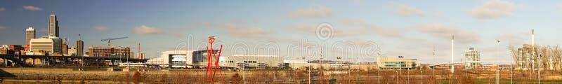 Omaha Nebraska Downtown City Skyline panorâmico longo foto de stock royalty free
