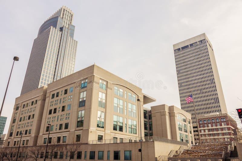 Omaha, Nebraska. Downtown of Omaha panorama. Omaha, Nebraska, USA royalty free stock images