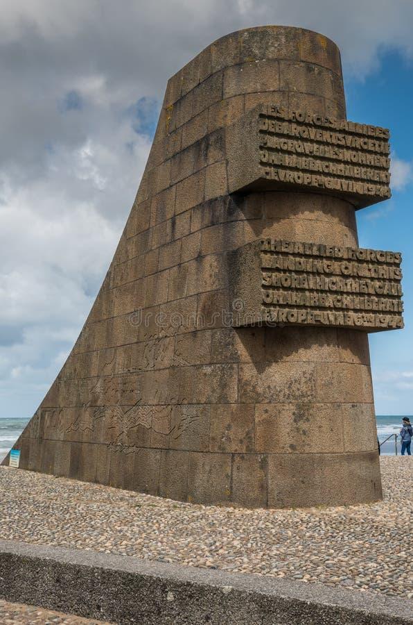 Omaha plaży pomnik zdjęcie stock