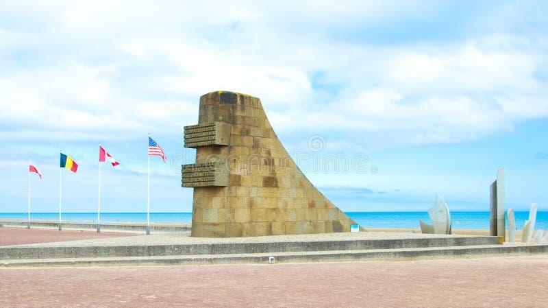 Omaha plaży pomnik zdjęcia stock