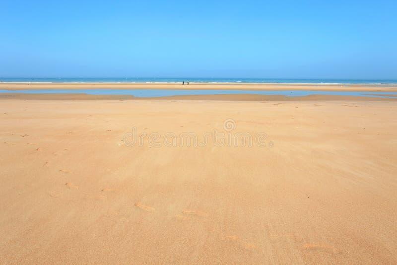 Omaha-Strand Normandie Frankreich lizenzfreies stockbild