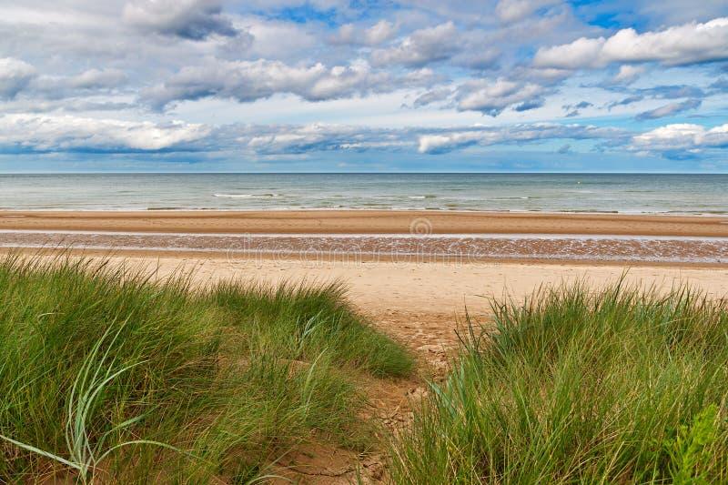 Omaha strand, Normandy, Frankrike arkivbild
