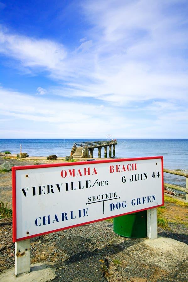 Omaha-Strand-Weltkrieg-Normandie-Standort Vierville lizenzfreie stockbilder