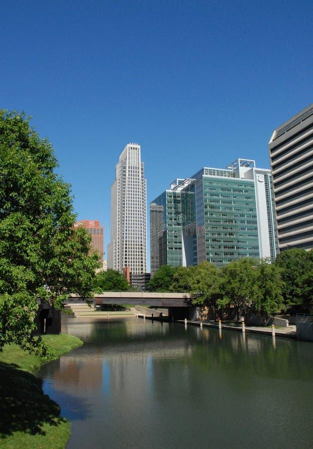 Omaha van de binnenstad stock foto