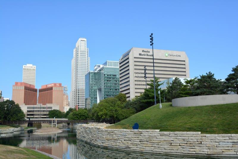 Omaha w centrum Linia horyzontu Nebraska obraz stock