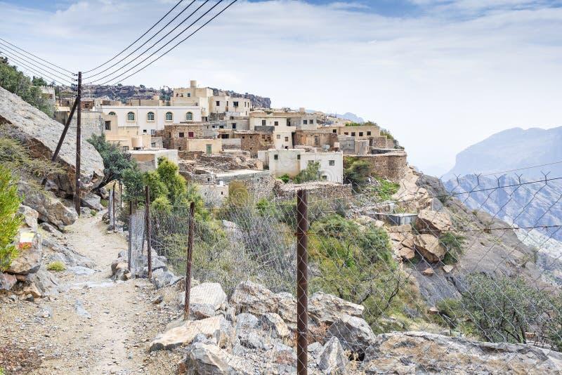 Oman ścieżki Saiq plateau obrazy royalty free