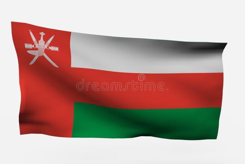 Download Oman 3d flag stock illustration. Image of isolation, national - 7733984