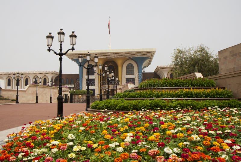 Oman. Al Alam Palace. fotografering för bildbyråer