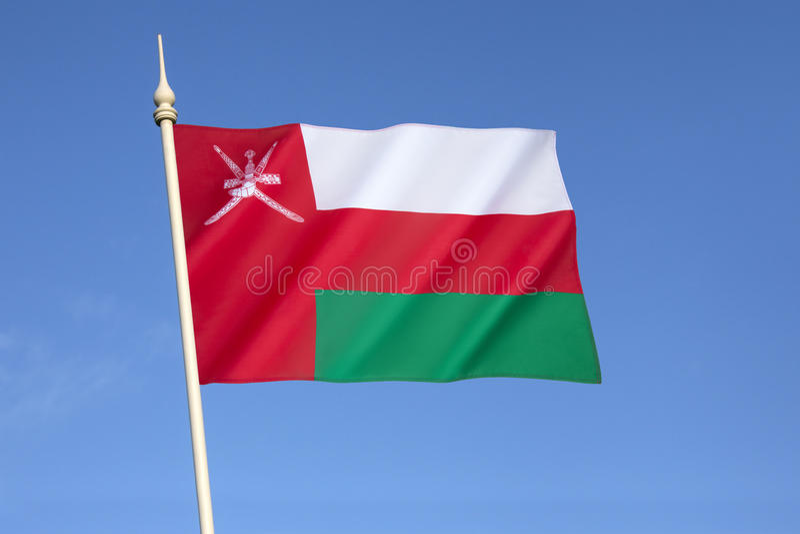 Oman bandery obrazy stock