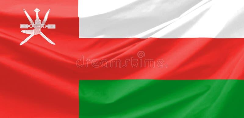 Oman Flag. Wavy and realistic Oman Flag royalty free illustration