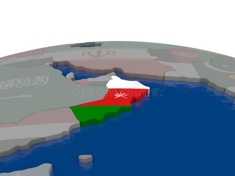 Download Oman With Flag Stock Illustration - Image: 83718895