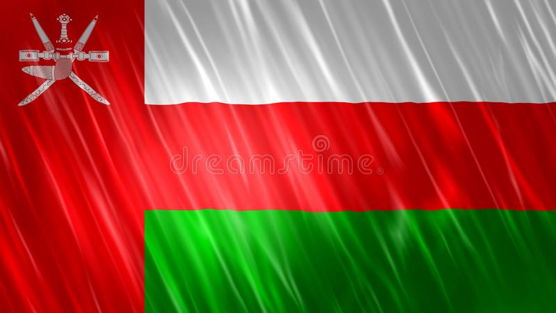 Oman Flag. For Print, Wallpaper Purposes, Size : 7680  x 4320 Pixels, 300 dpi, Jpg Format royalty free illustration