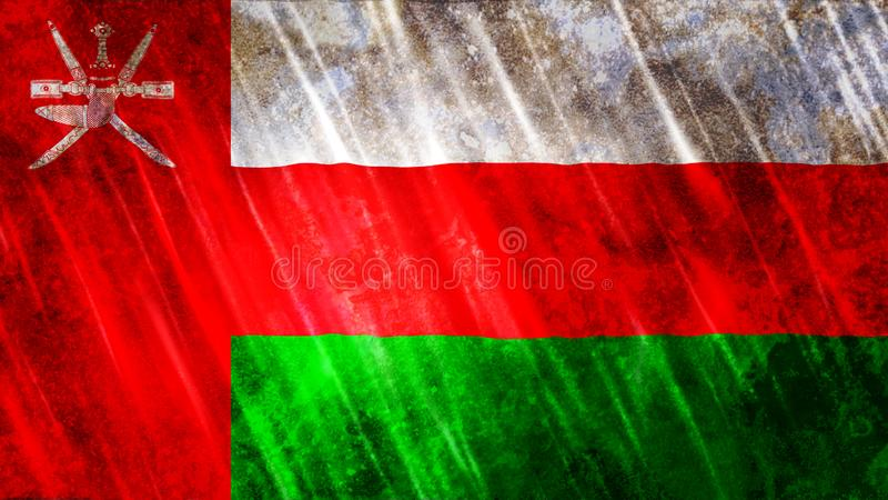 Oman Flag. For Print, Wallpaper Purposes, Size : 7680  x 4320 Pixels, 300 dpi, Jpg Format vector illustration